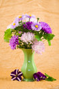 Bouquet In A Green Vase Royalty Free Stock Photo - 11084485