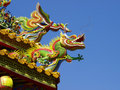 Roof Of Chinese Temple Royalty Free Stock Photo - 11084845