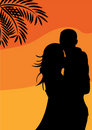 Romantic Couple On The Sunset Background Stock Photography - 11086522