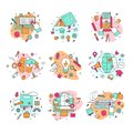 Education Icons Vector Illustration Educational And Learning Symbols Of Schooling And Graduation Set Of School Science Royalty Free Stock Photography - 110818127