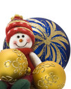 Christmas Toy With Three Colorful New Year Balls Royalty Free Stock Photos - 11108898