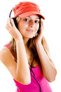 Young Woman Listen Music Royalty Free Stock Image - 11118616