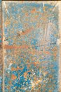 Metal Door With Rust, Crack And Old Loose Blue Paint Texture. Architect, Pieces. Royalty Free Stock Images - 111205739