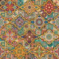 Seamless Pattern With Decorative Mandalas. Vintage Mandala Elements. Colorful Patchwork. Stock Photos - 111231853