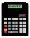 Basic Calculator Front View Royalty Free Stock Images - 11130179