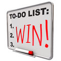 To-Do List - Win - Dry Erase Board Stock Photo - 11130270