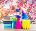 Spring Cleaning Concept Royalty Free Stock Photos - 111341428