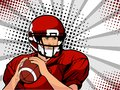 American Football Athlete. Vector Illustration In Pop Art Retro Comic Style. Royalty Free Stock Image - 111438556