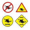 Drones Prohibition Signs Stock Images - 111493144