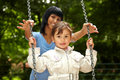 Girl On A Swing Royalty Free Stock Image - 11161416