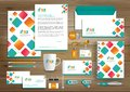 Corporate Identity Business  Template Design Vector Abstract Stationery , Gift Items Color Promotional Souvenirs Elements. Link Di Royalty Free Stock Image - 111624866
