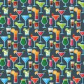 Alcoholic Cocktails Seamless Pattern Background Fruit Cold Drinks Tropical Cosmopolitan Freshness Party Alcohol Sweet Royalty Free Stock Photos - 111676098
