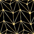 Antique Vector Seamless Gold Art Deco Pattern. Royalty Free Stock Image - 111737066
