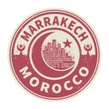 Stamp Or Emblem With Text Marrakesh, Morocco Inside Royalty Free Stock Photo - 111765525