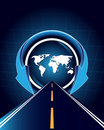 World Map An Road Stock Images - 11195624