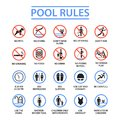 Swimming Pool Rules Royalty Free Stock Image - 111957716