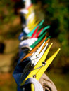 Clothes Pegs On A Line Stock Photos - 1128573
