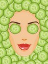 Face And Cucumbers Royalty Free Stock Image - 11203536
