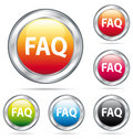 Beautiful FAQ Buttons Collection. Stock Photo - 11204500