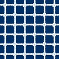White Rope With Knots Seamless Pattern On Navy Blue Background. Marine Endless Striped Illustration With Loop Ornament. Royalty Free Stock Image - 112011286