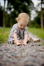 Little Baby On The Park Alley Royalty Free Stock Images - 11230729