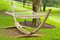Hammock On Grass By Trees Royalty Free Stock Photos - 11233428
