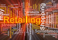 Retailing Word Cloud Box Package Stock Image - 11242121