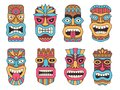 Hawaiian Mask Of Tiki God. Wooden African Sculpture Royalty Free Stock Image - 112494026