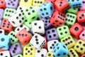 Background Of Many Colored Dice Royalty Free Stock Photography - 112587357