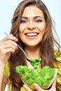 Close Up Face Portrait Of Woman For Female Healthy Diet Concept Royalty Free Stock Photography - 112590747