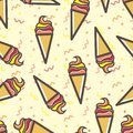 Seamless Ice Cream Pattern, Fun Anf Colorful Royalty Free Stock Photos - 112630808