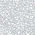 Light Gray Abstract Mosaic Seamless Pattern. Vector Background. Endless Texture. Ceramic Tile Fragments. Royalty Free Stock Photography - 112684267