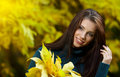 Young Woman In Autumn Park. Stock Image - 11281791