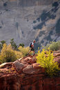 Hiker In Zion National Park Stock Images - 11303554