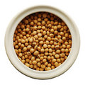 Soy Beans In A Ceramic Jar Royalty Free Stock Photography - 11304107