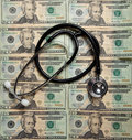 Stethoscope On A Background Of $20 Bills Stock Photography - 11305782