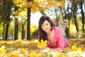 Young Woman Rest In The Autumn Park Stock Photos - 11325753
