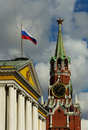 Moscow Kremlin And Russian State Symbols Royalty Free Stock Photography - 11328727