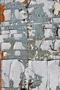 Cracked Paint Pieces On An Old Wooden Aged Rural Shed Surface. Stock Image - 113224721
