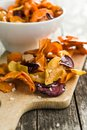 Mixed Fried Vegetable Chips. Stock Images - 113257064