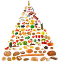 Large Food Pyramid Royalty Free Stock Photo - 11330835