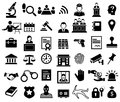 Justice And Legal Sign Icon Set Royalty Free Stock Image - 113304506