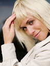 Beautiful Sexy Blond Woman In Coat Stock Images - 11340614