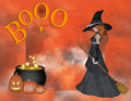 Witch Boo Halloween Background Stock Image - 11344001