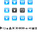 Player Icons. Royalty Free Stock Photography - 11347357