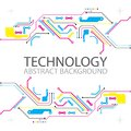 Abstract Technological Background With Various Elements. CMYK Co Stock Image - 113446561