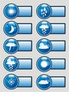 Weather Pictograms Banner Set Royalty Free Stock Images - 11356839