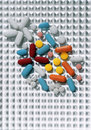 Multi Color Pills Royalty Free Stock Photo - 11357885