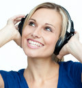 Portrait Of A Woman Listening To Music Royalty Free Stock Photos - 11360098