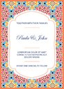 Vintage Wedding Invitation Template. Save The Date Card. Trendy Stock Photo - 113618370